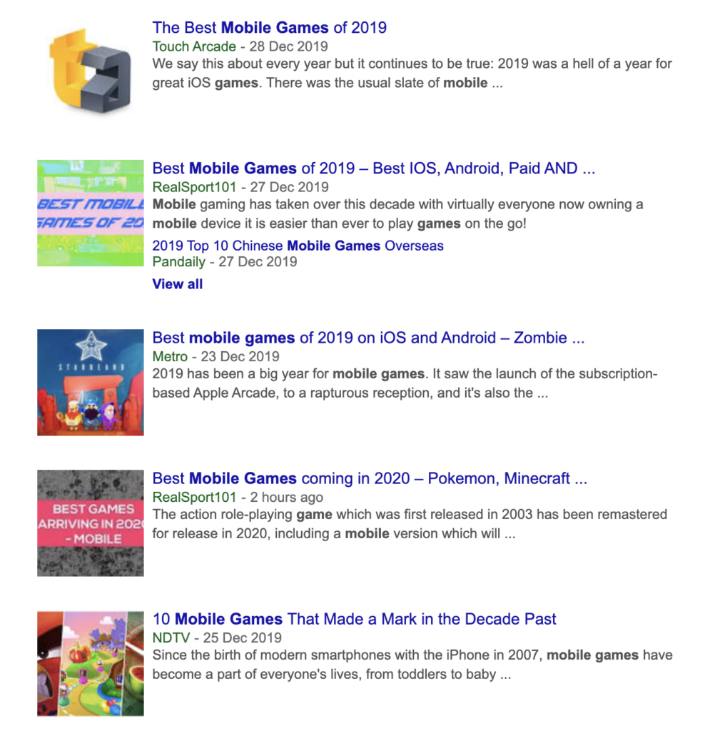 Game-Consultant.com; What is your best mobile game of 2019